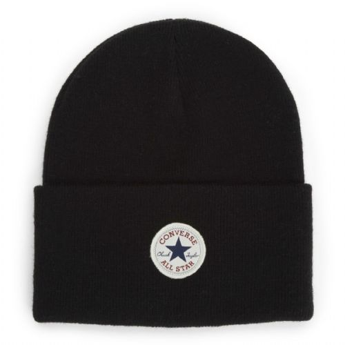 CONVERSE MENS BEANIE HAT.NEW CHUCK TAYLOR BLACK WARM WOOLLY KNITTED CAP CON588